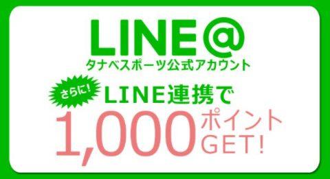 タナベスポーツのLINE@限定クーポン