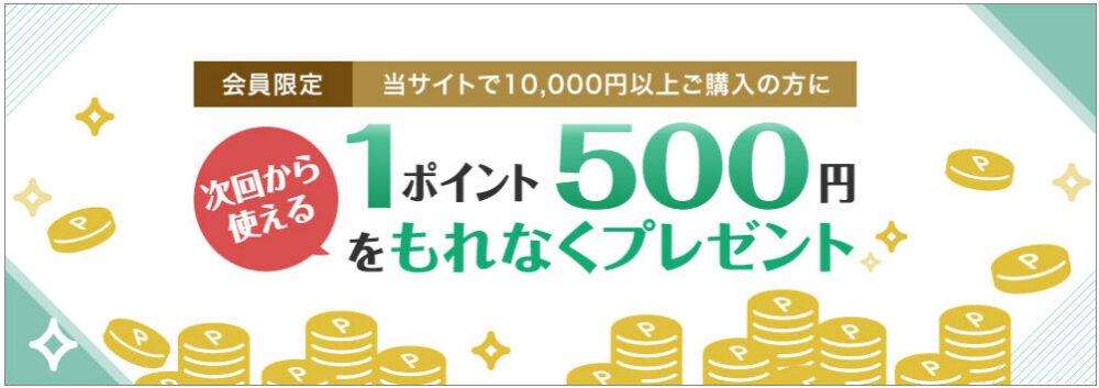 一果相伝(IKKASOUDEN)の次回使える500ポイント